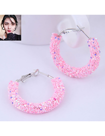 Fashion Pink Sequin Ear Studs