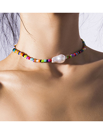 Fashion Color Rice Beads Necklace