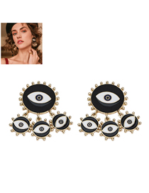 Fashion Black Metal Eyebrow Stud Earring