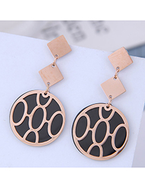 Fashion Titanium Steel Titanium Steel Drip Geometric Round Ear Studs