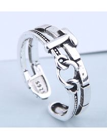 Fashion Silver Chain Alloy Split Ring