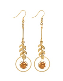 Fashion White Large And Small Drip Glaze Love Alloy Earrings