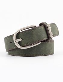 Accesorios De Aleación Anillo Faux Leather Pin Hebilla Cinturón Plano