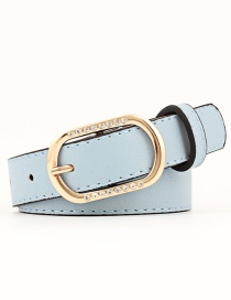Fashion Sky Blue Pin Buckle Rhinestone Belt