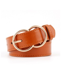 Fashion Camel Double Ring Pin Buckle Belt