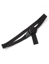 Fashion Black Canvas Automatic Smooth Buckle Belt