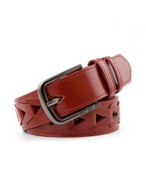 Cinturón Ancho Con Agujero Triangular Con Incrustaciones