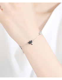 Fashion Platinum Dragonfly Shape Copper Inlaid Zirconium Bracelet