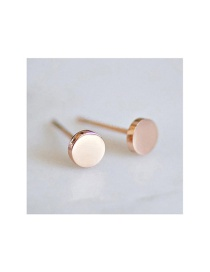 Fashion Rose Gold Stainless Steel Geometric Gold-plated Earrings