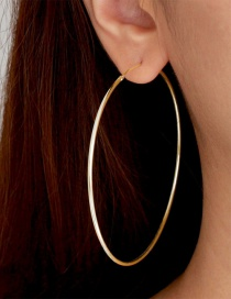 Fashion Gold Stainless Steel Plated Earrings