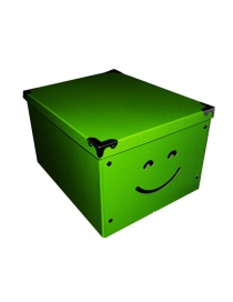 Fashion Green Large Paper Covered Folding Storage Box