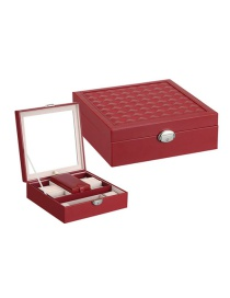 Fashion Jujube Red Multifunctional Wooden Jewellery Box