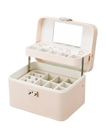 Fashion Bare Powder Rounded Multi-layer Automatic Disk Storage Box