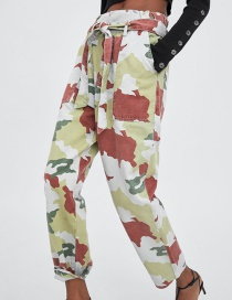 Fashion Camouflage Camouflage Paper Bag Pants Overalls