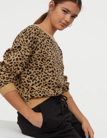 Jersey Jacquard Leopardo