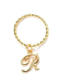 Fashion Gold Note Letter Ring