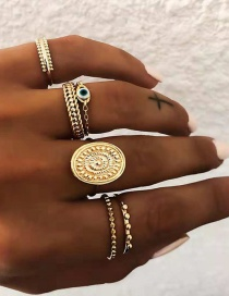 Fashion Gold Gold Plated Ring 6 Piece Set