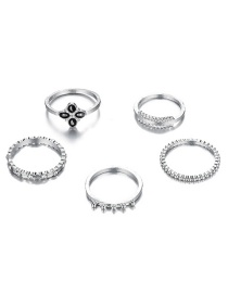 Fashion Silver Gold-plated Ring Set