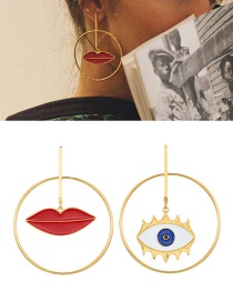Fashion Gold Lip Earrings