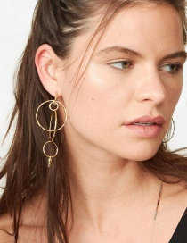 Fashion Gold Irregular Geometric Earrings