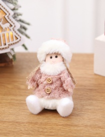 Fashion Pink Angel Figurine Sitting Doll