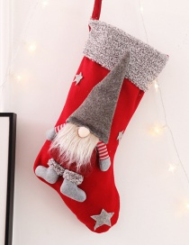 Fashion H Red Paragraph No Face Doll Christmas Stockings Three-dimensional Faceless Doll Christmas Stockings