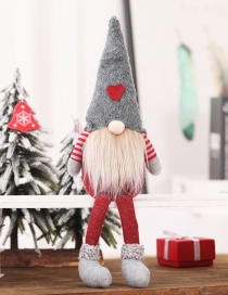 Fashion H Gray Hat Long Legs Without Face Doll Tied Beard Hanging Legs Without Face Doll Ornaments