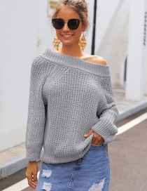Fashion Gray Thick-necked Turtleneck Sweater