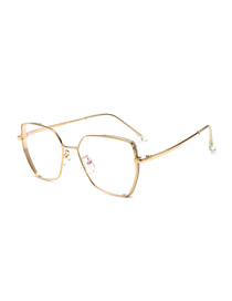 Fashion Gold Frame Irregular Large Frame Anti-blue Flat Mirror
