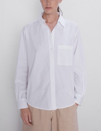 Fashion White Pocket Shirt