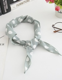 Fashion Light Green Large Dot Triangle Scarf