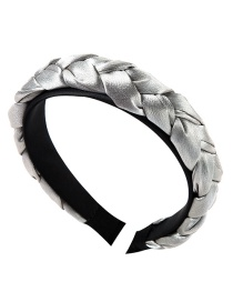 Fashion Gray Satin Twist Braid Headband