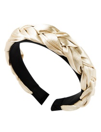 Fashion Beige Satin Twist Braid Headband