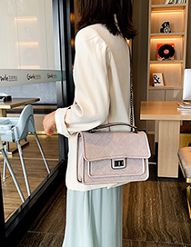 White Chain Rhombic Shoulder Messenger Bag