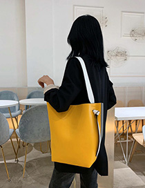 Yellow Contrast Color Bill Of Lading Backpack Mother Package