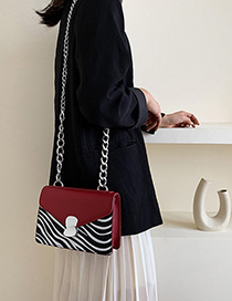 Red Chain Shoulder Messenger Bag