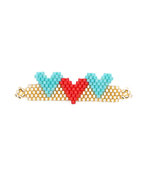 Fashion Gold Love Rice Beads Weaving Accessories