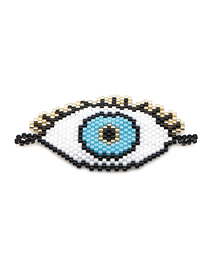 Fashion White Religious Totem Eye Beaded Woven Accessories