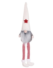 Fashion White Hat Section No Face Doll Long Leg Doll Christmas Tree Pendant
