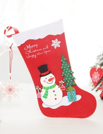 Fashion Large Snowman Christmas Stocking Santa Claus Socks
