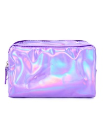 Fashion Purple Square Pu Laser Clutch