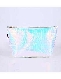 Fashion Laser Silver Stone Pattern Laser Clutch
