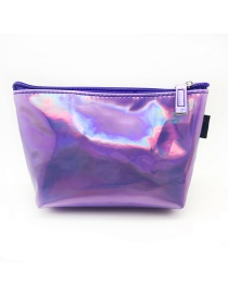 Fashion Purple Pu Laser Pencil Case