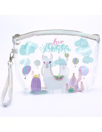 Fashion Alpaca Pvc Printed Cosmetic Bag