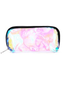 Fashion Silver Pvc Laser Transparent Clutch