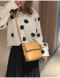 Fashion Yellow Broadband Shoulder Crossbody Bag