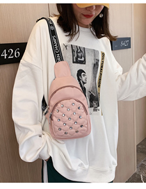 Fashion Pink Diamond Chest Bag