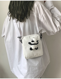 Fashion White Canvas Cartoon Shoulder Messenger Bag
