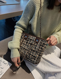 Fashion Coffee Color Wedge Diagonal Shoulder Bag