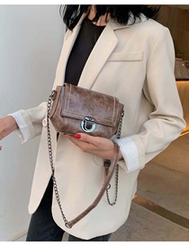 Fashion Coffee Color Chain Crossbody Shoulder Bag